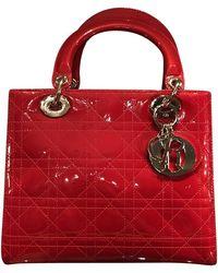 Dior Lady Dior aus Lackleder - Rot
