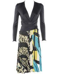 Issa Langarm-Kleid - Mehrfarbig