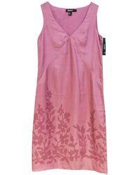 Donna Karan Seidenkleid - Pink