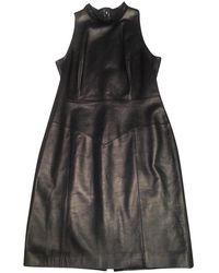 Chanel Kleid aus Leder - Schwarz