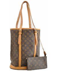 Louis Vuitton Bucket Bag aus Canvas - Braun