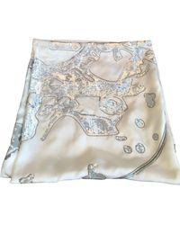 Hermès Schal/Tuch aus Seide - Weiß