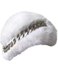 Chanel Mütze aus Nerzpelz - Weiß