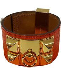 """Hermès Armband """"Collier de Chien"""" - Orange"""