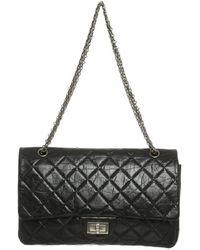 Chanel 2.55 aus Leder - Schwarz
