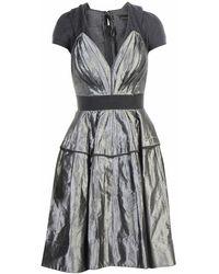 Donna Karan Kleid aus Seide - Grau