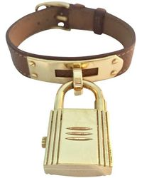 Hermès Armbanduhr aus Leder - Braun