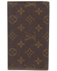 Louis Vuitton Täschchen/Portemonnaie aus Canvas - Braun