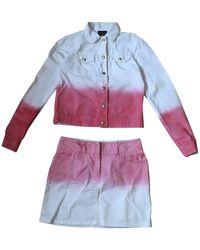 Fendi Jumpsuit aus Baumwolle - Weiß