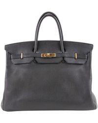 Hermès Birkin Bag 40 aus Leder - Schwarz