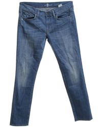 """7 For All Mankind Jeans """"Roxanne"""" im Used-Look - Blau"""