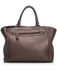 Prada Handtasche aus Leder - Braun