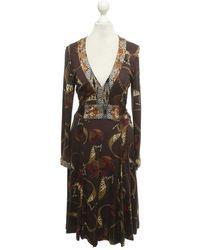 Issa Kleid mit Muster - Mehrfarbig