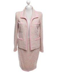 Chanel Kostüm mit Muster - Pink