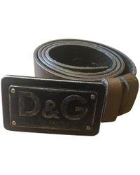 Dolce & Gabbana Gürtel aus Leder - Schwarz