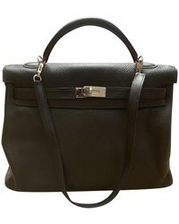 Hermès Kelly Bag 40 aus Leder - Schwarz