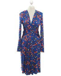 Issa Kleid aus Seide - Blau