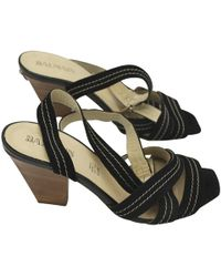 Balmain Sandalen aus Leder - Schwarz