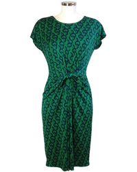 Issa Seidenkleid mit Muster - Grün
