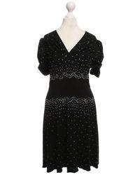 Anna Sui Kleid mit Nieten - Schwarz