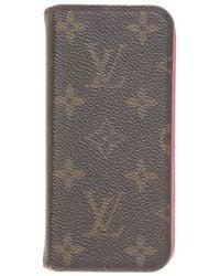 Louis Vuitton Täschchen/Portemonnaie aus Canvas - Grau