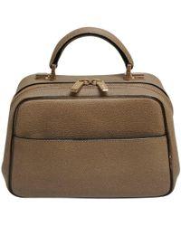 Valextra Handtasche aus Leder - Natur