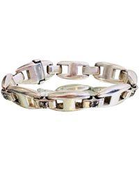 Hermès Armreif/Armband aus Silber - Mettallic