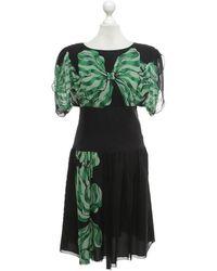 Anna Sui Kleid mit Blumenmuster - Grün