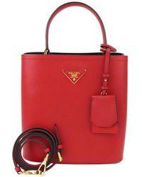 Prada Handtasche aus Leder - Rot