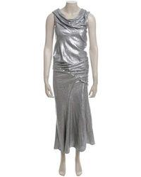 Donna Karan Abendkleid mit Pailletten - Grau