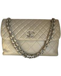 Chanel Flap Bag aus Leder - Natur