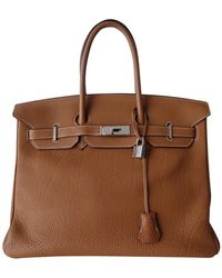 Hermès Birkin Bag 35 aus Leder - Natur