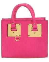 Sophie Hulme Box Albion aus Leder - Pink