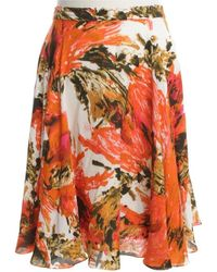 Erdem Rock mit floralem Print - Orange