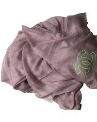 Chanel Schal/Tuch aus Kaschmir - Mehrfarbig