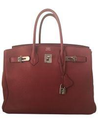 Hermès Birkin Bag 35 aus Leder - Rot