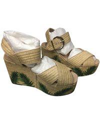 Schutz - Sandalen aus Leder - Lyst