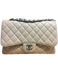 "Chanel ""Jumbo Flap Bag"" aus Kaviarleder - Natur"