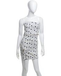 Patrizia Pepe - Bandeau-Kleid mit Reißverschlüssen - Lyst