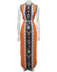 Mary Katrantzou Kleid mit Muster - Orange