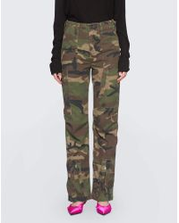 RE/DONE - Camouflage Print Cargo Trousers - Lyst