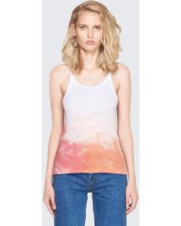 RE/DONE - Originals Ribbed Tank - Lyst