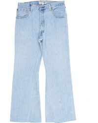 RE/DONE - High Rise Crop Flare - Lyst