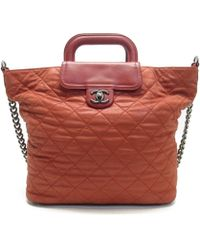 41afc38b95db Chanel - Auth Quilted Chain Shoulder Handbag Red Leather Used Vintage - Lyst