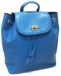Céline - Backpack Bag Backpack - Daypack Blue Leather/ - Lyst