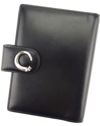 Cartier Notebook Cover Panthere Mens Used T5064 - Black