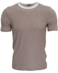 Miu Miu Pre-owned Striped T-shirt - Brown