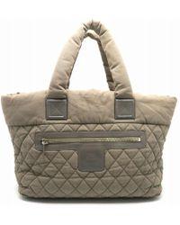e0b1e3770ef Chanel - Matelasse Cc Coco Cocoon Tote Bag Shopper Cotton Grey 5599 - Lyst