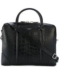 89069444cb Lyst - Givenchy Black Printed Canvas Lucrezia Bag in Black