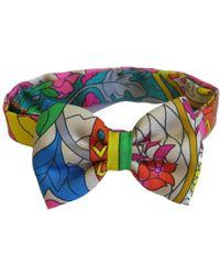 Hermès - Noeud Papillon En Foulard De Soie Multicolore ; - Lyst